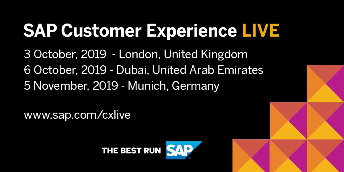 SAP Customer Experience LIVE 2019 | SAP Customer Experience Live